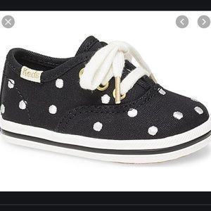 kate spade x keds champ seasonal black dot shoes